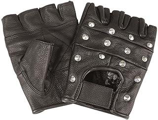Mil-Tec Biker rękawiczki skórzane z nitami
