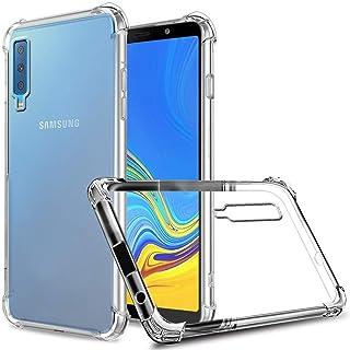 شاهد التفاصيل حافظة بتصميم متين ورفيع لهواتف سامسونج جالاكسي A7 / A750 (2018) من السيليكون لهواتف سامسونج جالاكسي A7