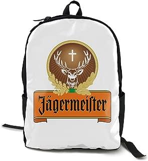 AsziSham Jagermeister Unisex College Bag Laptop Casual Rucksack Waterproof School Backpack