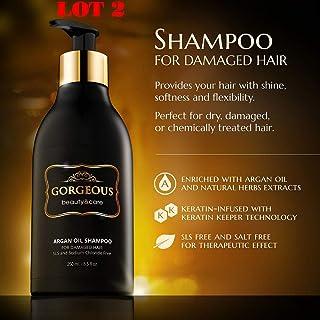 LOT 2 Moroccan Argan Oil Shampoo 8.5 Oz sls Free .Volumizing & Moisturizing