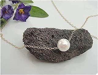 Women Simple Imitate Pearl Pendant Necklace Bib Choker Collar Silver Small Chain Necklace Elegant Style