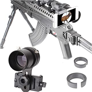 SOLOMARK Scope Phone Adapter Mount with Advanced Glass Magnification- Quick Smartphone Adapter for Rifle Scope Gun Scope Airgun Scope - Capture Hunting Image into Your Phone Screen