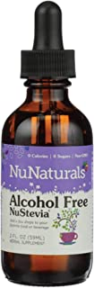 NuNaturals NuStevia Alcohol Free Liquid Stevia Drops Natural Liquid Sweetener, Sugar Free, 295 Servings