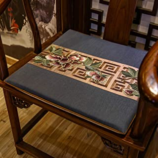 Embroidery Chair Cushion, Multi-size Classic Floor Mat Thicken Non-slip Living Room Seat Pad, Set Of 2-u 50x44x3cm