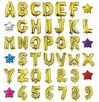 HOPIC 組み合わせ 自由 バルーン 風船 飾り付け イベント 装飾 [ 数字 ] ( ゴールド:1 )