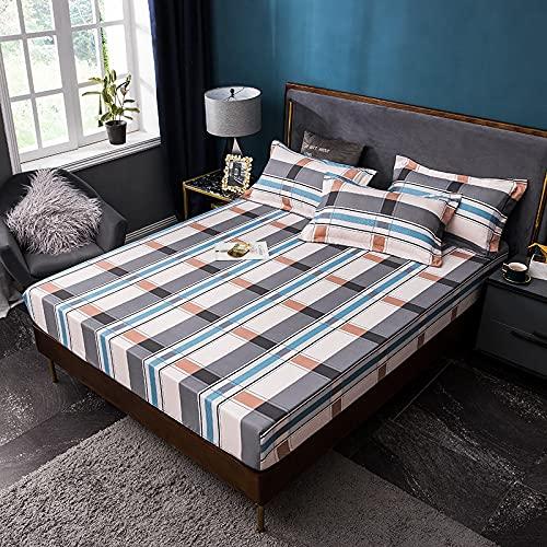 Haiba - Lenzuolo con angoli in cotone per letto king size, 100% cotone, extra profondo, 200 x 220 + 20 cm