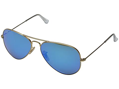 Ray-Ban RB3025 Aviator Polarized Flash Lenses 58mm at Zappos.com