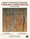 Great Twentieth-Century Violin Concertos in Full Score (Dover Music Scores)