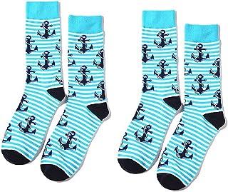 Bocotoer, Pack de 2 calcetines deportivos con estampado animal para niños para entrenamiento y casual