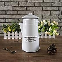 Emaille Emaille Cool Water Fles Creatieve Nostalgische Koffiepot, Retro Distressed Koud Water Fles met Deksel, Restaurant ...
