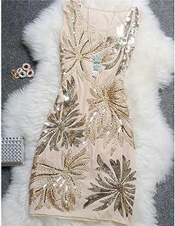 MEILINVREN Vestido,Sequined Vintage Elegante Casual Depósit