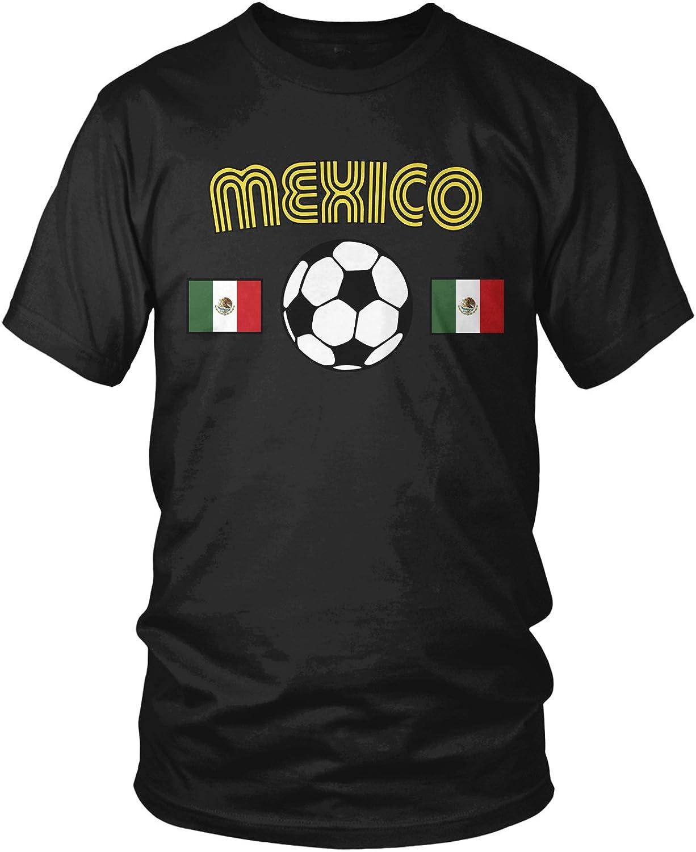 Amdesco Ranking TOP3 Men's Mexico Soccer Love Football T-Shir Futbol Mexican [Alternative dealer]