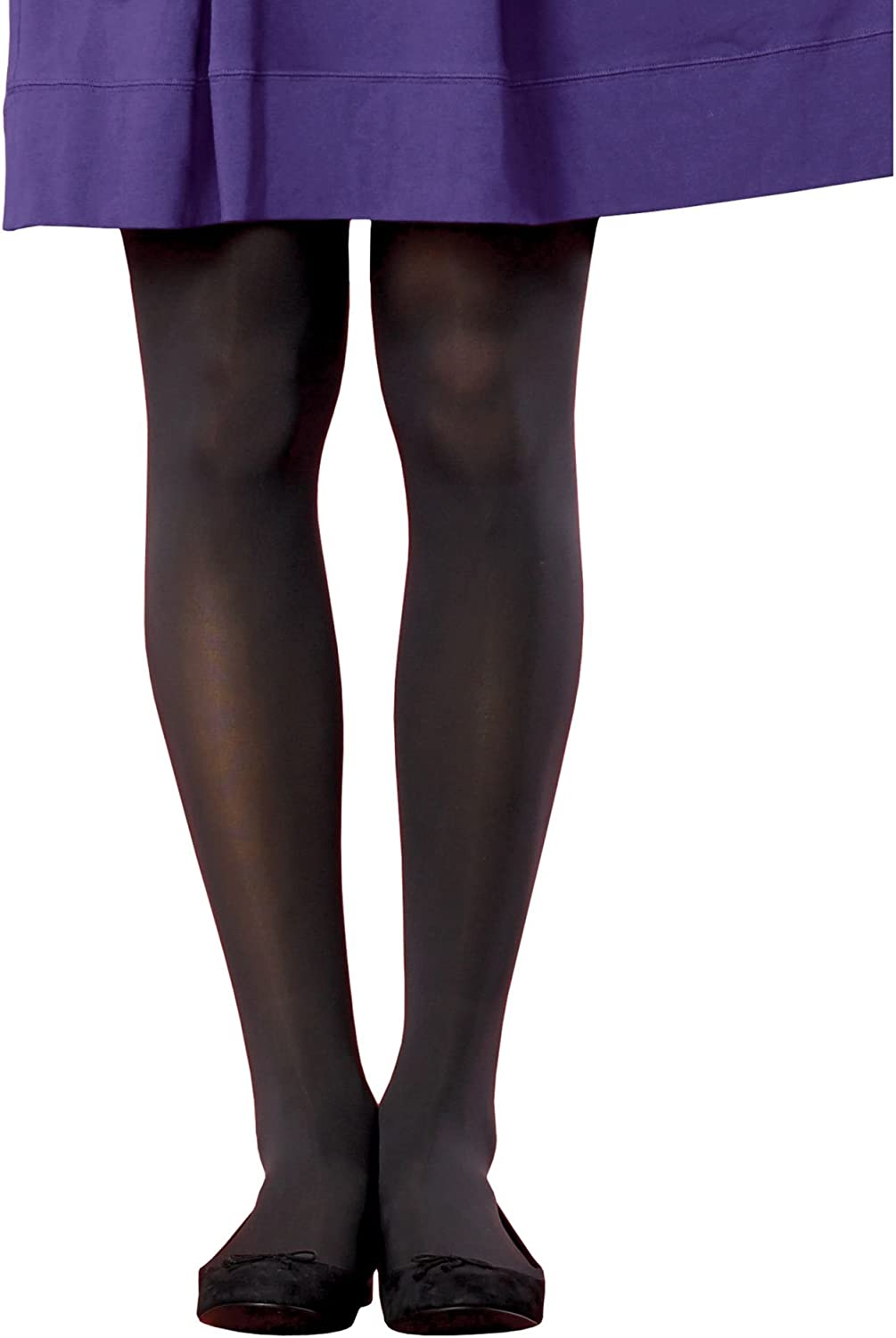 Hanes Women`s Set of 3 Silk Reflections Opaque Tights With Comfort Stretch