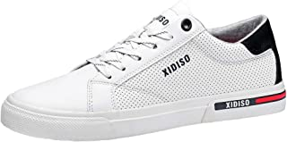 XIDISO Mens Skate Shoes Casual Sneakers for Men Lace Up Walking Shoe