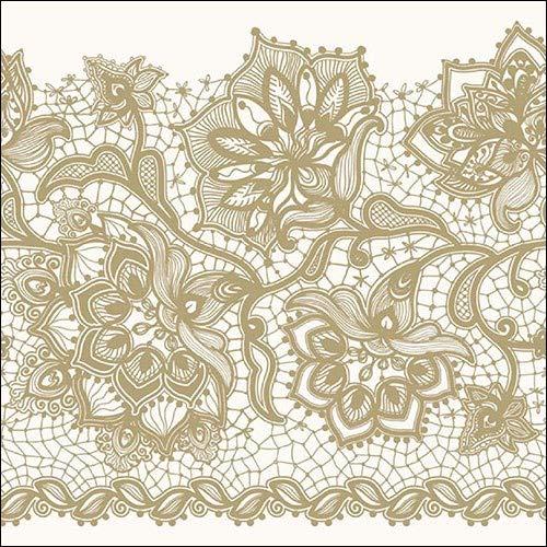 Gloria Gold – 4 servilletas de papel para decoupage, 3 capas, 33 x 33 cm (paquete de 4 servilletas individuales)