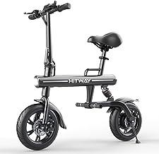 HITWAY Elektrische fiets Opvouwbare E-bike URBANBIKER gemaakt van luchtvaart aluminium opvouwbaar, 7,5 Ah, 250 W motor, be...