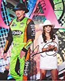 2X AUTOGRAPHED Danica Patrick & Tony Eury Jr. #10 GoDaddy Racing Team COUNTRY MUSIC AWARDS (Trace Adkins) 8X10 Signed Picture NASCAR Glossy Photo with COA