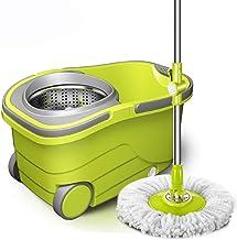 Mop,Easy Microfiber Floor Mop Easy Microfiber Spinning Household Cleaning Tools