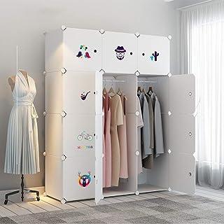 Garde-Robe Simple Style Minimaliste De L'impression Créative Garde-robe Armoires Modulaires Vêtements Chaussures Et Sacs R...