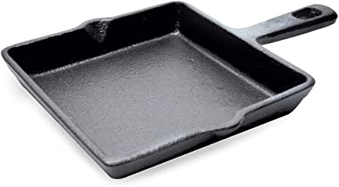 Ecolution EOBK-3215 Cast Iron Mini Square Griddle Pan, 6-Inch