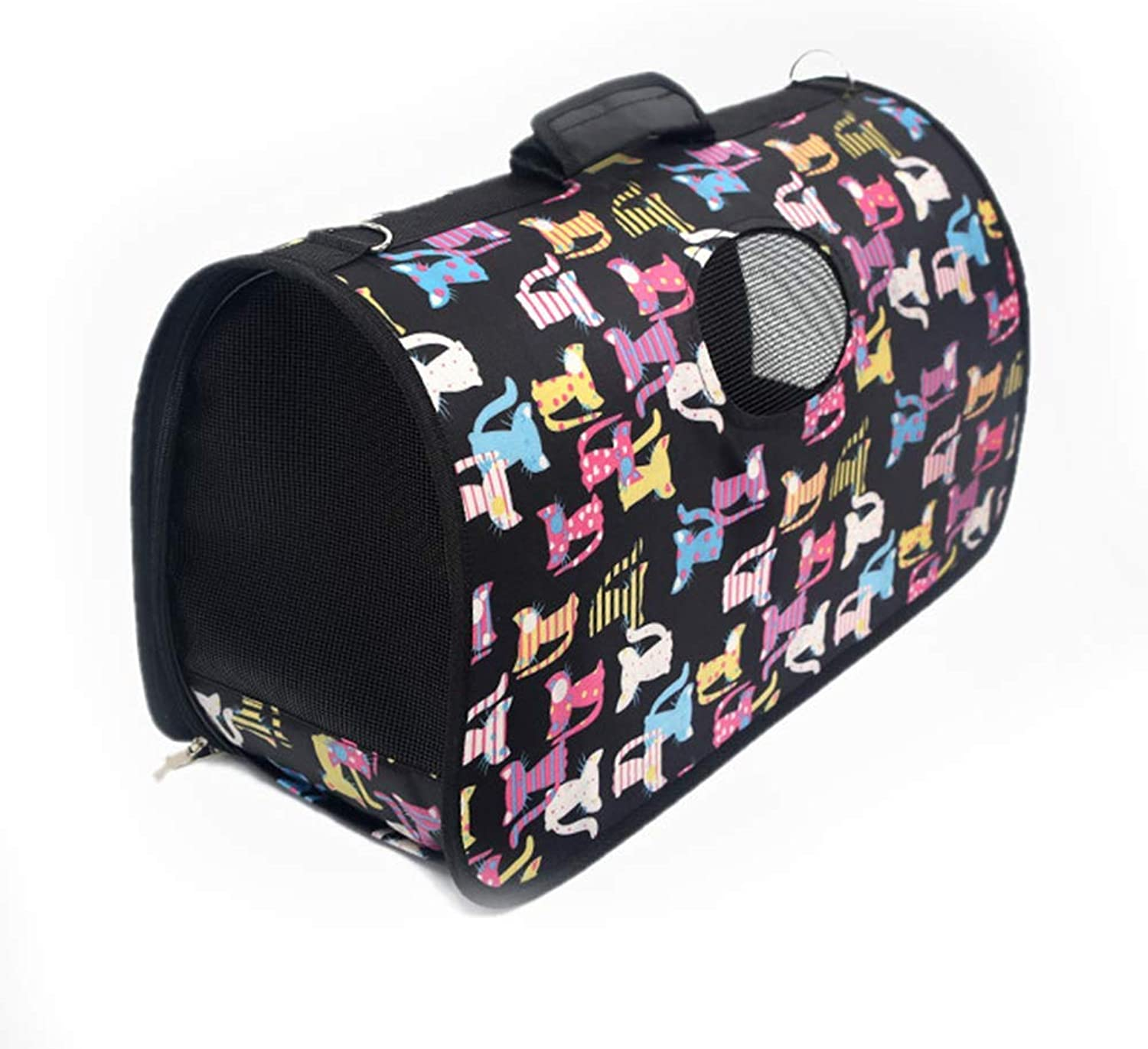 Pet Oxford Portable Dog Bag,Cute Pattern Kennel Breathable Portable Foldable Travel Backpacks