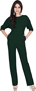 Womens Long Short Sleeve Round Neck Formal Cocktail Jumpsuit