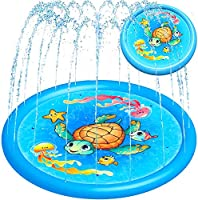 "Splash Pad Water Sprinkler for Kids Toddlers 68"" Large, Outdoor Summer Toys Kiddie Baby Swimming Pool - Fun Backyard..."