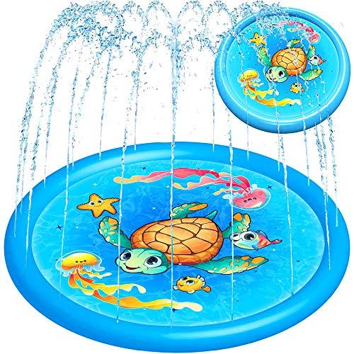 Splash Pad Water Sprinkler for Kids Toddlers 68' Large, Outdoor Summer Toys...