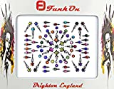 FunkOn® Colourful Bollywood Bindi Stickers Indian Face Gems for Festivals Costume Bindis Huge Multipack Diamond Tikka Forehead Makeup Face Tattoos Glitter Accessories Body Crystal Jewels NB10