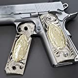 Tek_Tactical 1911 Grips Nickel Virgin Mary Lady of Guadalupe Grips 1911 Full Size Grips Ambi Safty Grips