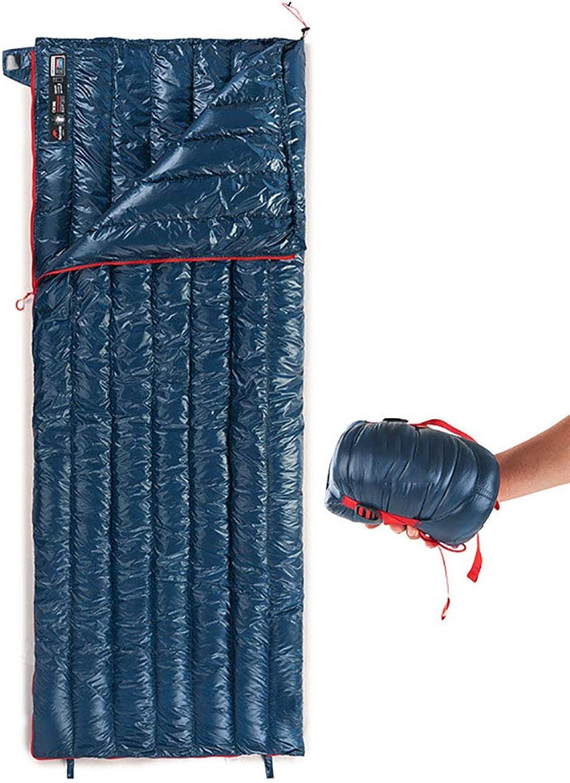 LRXGOODLUKE Schlafsack, Daunenhülle Schlafsack, kann in einen Doppelschlafsack genht Werden, geeignet für Camping, Wandern,NavyBlau,200  80cm