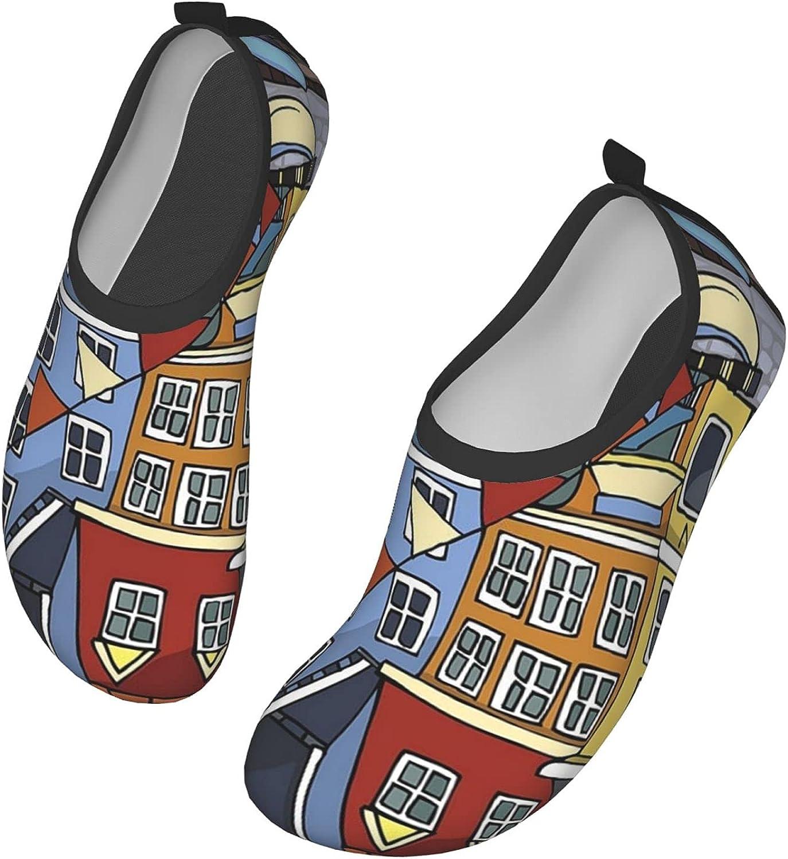 Love Copenhagen Water Shoes Women's Men's Outdoor Beach Swimming Aqua Socks Quick-Dry Barefoot Shoes Surfing Yoga Pool Exercise