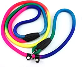 yueton Rainbow Pet Dog Nylon Leash Adjustable Loop Slip Lead Rope