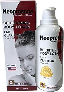 Neoprosone, Lactic Acid Lotion | 13.5 Fl oz / 400ml | AHA Body Cream | Fade Dark Spots on Body, Knees, Armpit, Underarm | ...