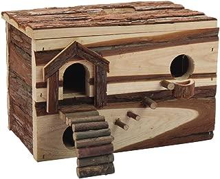 B&P Hamster Hideaway Log Rodent Pet Toys -11x7.5x8 Playroom for Gerbils Syrian Dwarf Hamster