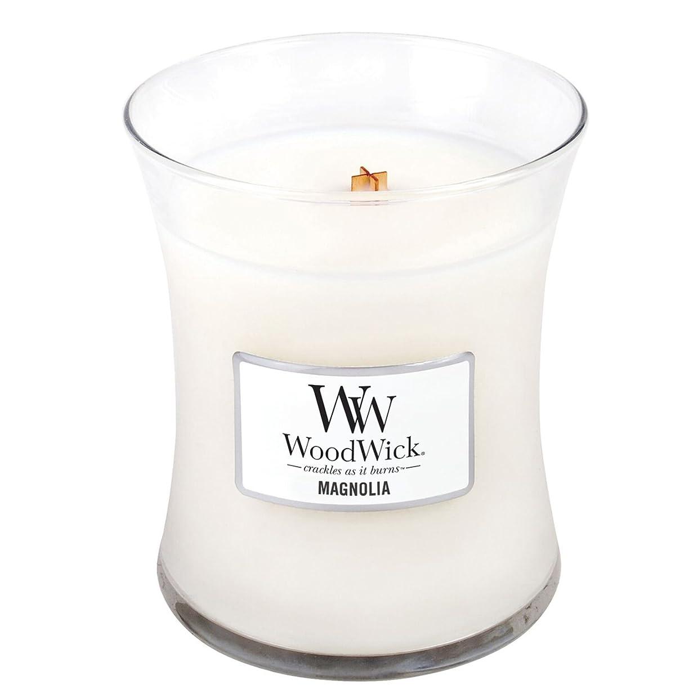 種アクセサリーペパーミントWoodwick Magnolia, Highly Scented Candle、クラシック砂時計Jar、Medium 4インチ、9.7?Oz