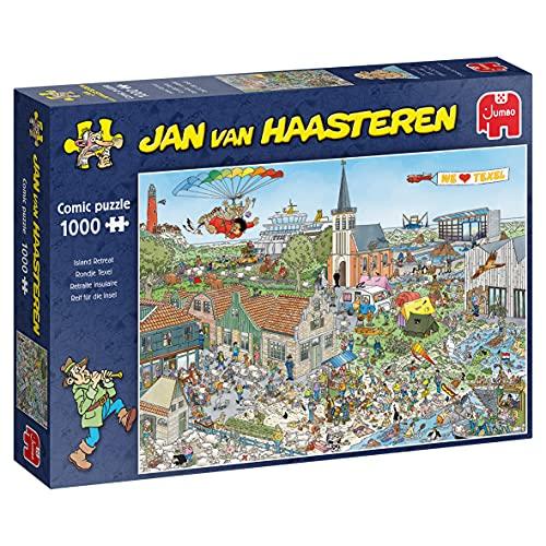 Jumbo 20036 Jan Van Haasteren-Reif für die Insel-1000 Teile Puzzlespiel, Mehrfarben