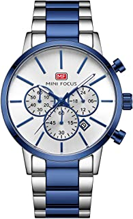 MINI FOCUS Classic Men Quartz Watch Analog Chronograph Business Wrist Watch with Calendar 3ATM Waterproof Luminous Pointer...