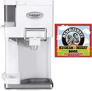 Cuisinart ICE-45 Mix It In Soft Serve 1.5-Quart Ice Cream Maker (White) Bundle with Ice Cream Recipe Dessert Book (2 Items)