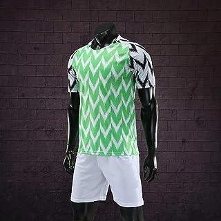 Camiseta De Local De La Copa Mundial De 2018 De Los Hombres De 160 A 195 Cm De Adultos Atleta del Equipo De Fútbol Transpirable Verde, Anti-Arrugas Juego De La Camisa De Estrés