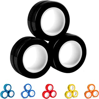AKKO Fidget Toys Decompression Magnetic Rings-Novelty Professional Fidget Spinner Stress Relief Tools to Relieve ADHD Anxi...