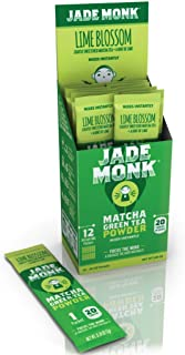 Matcha Green Tea Powder - Refreshing, Lightly Flavored Healthy Drink Mix Packets - Naturally Boost Metabolism, Improve Mood, and Increase Energy - Lime Blossom, 12 Servings