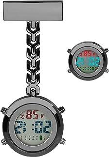 Reloj de Enfermera, Luckits Clip en Médico Reloj de Bolsillo Cuarzo Digital Reloj de Bolsillo Médico con luz de Fondo/Cale...