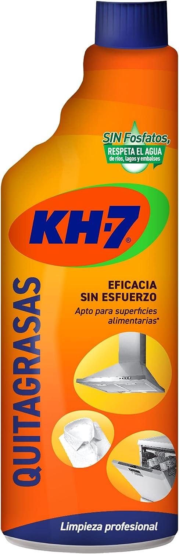 KH-7 Quitagrasas - Máxima Eficacia Sin Esfuerzo para Todo Tipo de Superficies y Tejidos, Apto para Superficies Alimentarias, Formato Pulverizador Cómodo y Práctico - Recambio 750 ml