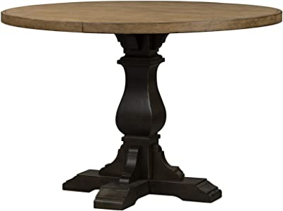 Liberty Furniture Industries Harvest Home Gathering Table, W54 x D54 x H36, Black/Brown