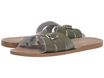 Salt Water Sandal by Hoy Shoes Classic Slide (Little Kid) (Olive) Girls Shoes