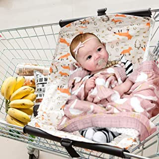 Baby Shopping Cart Hammock Cart Cover for Newborn Toddler and Twins Fox