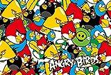 KDFN Jigsaw 500 Classic Adult Jigsaw Puzzle per Adulti Genitore-Figlio Giocattolo interattivo Arrabbiato Uccello-Famiglia Ritratto