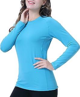 ANIVIVO Women Hiking Outdoor Long Sleeves Shirts UPF50+,Lightweight Outdoor Women Long Shirts for Tennis Running