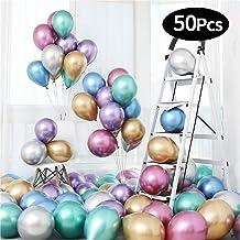 mreechan Globos Metalizados,Decoraciones Cumpleaños,Globos Metalicos 50 Piezas para Decoraciones de Fiestas de cumpleaños y Bodas,Fiestas y Navidad